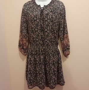 Dex BOHO Style Dress. Shades of Brown/Black 🇨🇦 M